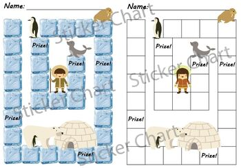 Polar Arctic Animals Sticker or Behavior Chart
