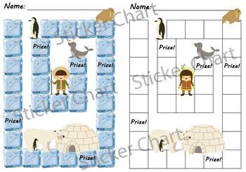 Polar Arctic Animals Sticker or Behavior Chart