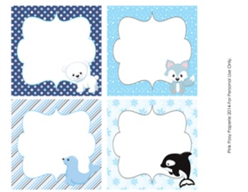 Winter Arctic Animals Table Numbers
