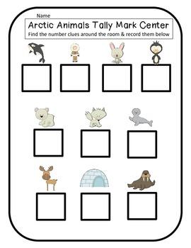 Polar Animals Tally Mark Math Center