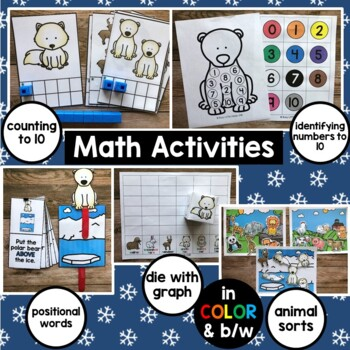 Arctic Animals literacy and math centers