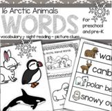 Arctic Animals Vocabulary Activities for Preschool and Pre-K