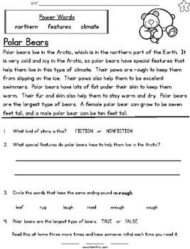 Arctic Animals Fluency Packet