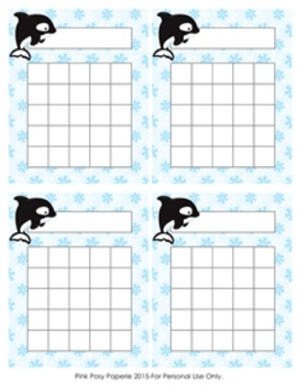 Arctic Animals Winter Incentive Reward Charts