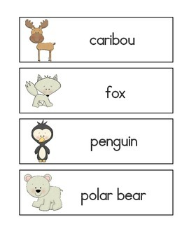 Arctic Animals Word Wall