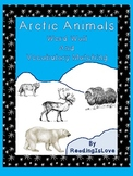 Arctic Animals Word Wall and Vocabulary Matching