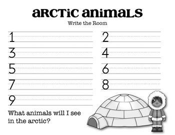 Arctic Animals Write the Room Activity