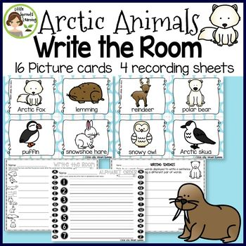 Arctic Animals Write the Room (in color and black/white)