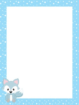 Winter Arctic Animals Writing Paper - 3 Styles - 4 Designs