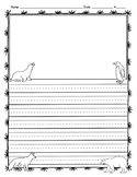 Arctic Animals Writing Template