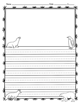 Arctic Animals Writing Template