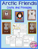 Arctic Animals and Inuit Kids Craftivity (Walrus, Penguin, Polar Bear)