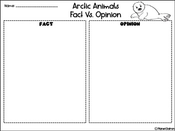Arctic Animals reading comprehension, vocabulary, word wall cards & ELA activity