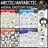 Arctic & Antarctic Animal Emotions Clip Art Bundle {Educlips Clipart}