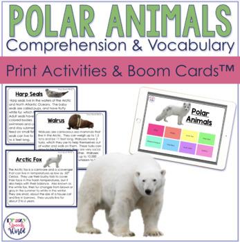 Arctic & Antarctic Animals Facts:  Expressive and Receptive Language Activities