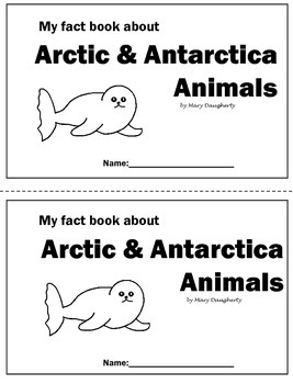 Arctic-Antarctica Animals Nonfiction Close Book