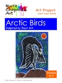 Arctic Birds Inspired by Inuit Prints: Art Lesson for Grades 4-7