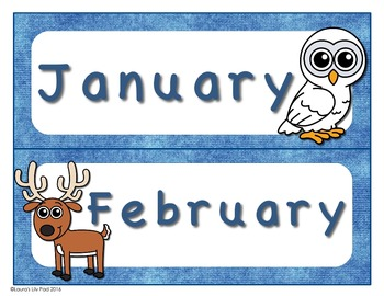 Arctic Calendar Months of the Year