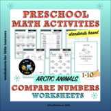 Arctic Compare Numbers 1-10 Worksheets