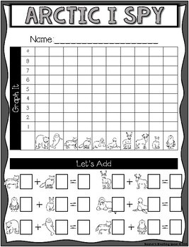 Arctic Count, Tally, Graph and Add --- Arctic Graphing Math Center