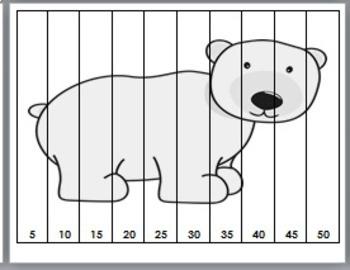 Arctic Animals Math - Number Puzzles