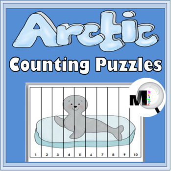 Arctic Animals Counting Puzzles - Numbers 1-120 - Winter Activity