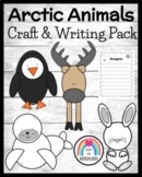 Winter / Arctic Animal Craft and Writing Pack: Hare, Caribou, Penguin, Seal