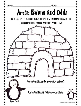 Arctic Even and Odd Number Activity Sheets by Krista Wallden ...