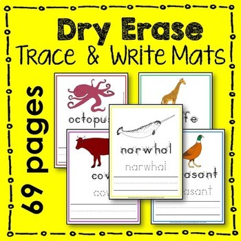 Animal Trace and Write Mat (arctic, farm, ocean, woodla, z
