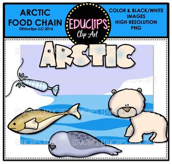 Arctic Food Chain Clip Art Mini Bundle {Educlips Clipart}