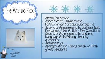 Third Grade Test Prep,  The Arctic Fox