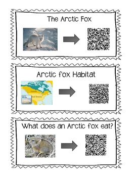 Non-fiction Arctic Fox Fun with QR codes