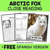 Arctic Fox Close Reading Passage Activities