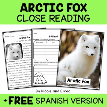 Close Reading Arctic Fox Activities
