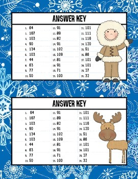 Arctic Freeze: Double Digit Addition Game (With and Without Regrouping)