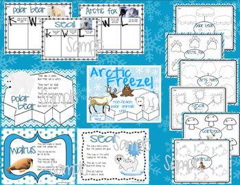 Arctic Freeze!   Non-Fiction Polar Animals Literacy Unit