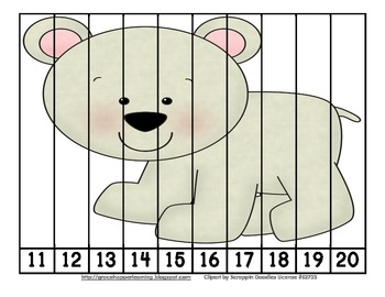 Arctic Freeze Number Order and Skip Counting Puzzles