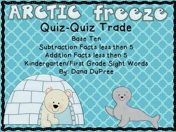 Arctic Freeze Quiz Trade Game