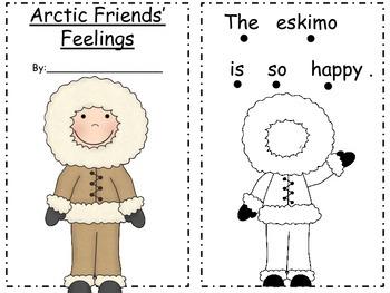 Arctic Friends' Feelings Mini Book