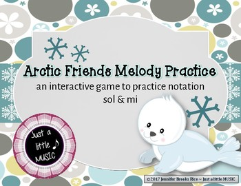 Arctic Friends - Interactive Practice Game for Notation {sol mi} in spaces