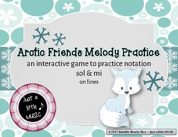 Arctic Friends - Interactive Practice Game for Notation {sol mi} on lines