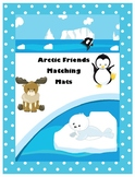Arctic Friends Matching Mats- Shapes and Animals-  Center