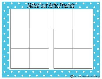Arctic Friends Mats- Shapes,Colors and Animals-Center Activity Printable