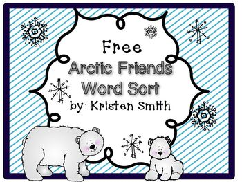 Arctic Friends Word Sort!