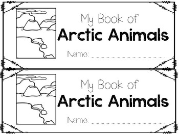 Arctic Habitat Vocabulary Book