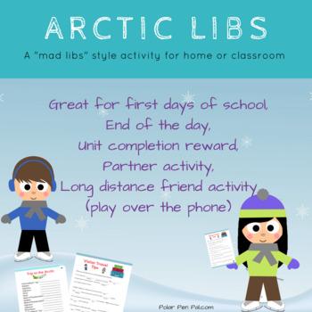 "Arctic Libs- Printable ""MadLibs Style"" Fun with an Arctic Twist!"