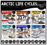 Arctic Life Cycles Clip Art Big Bundle {Educlips Clipart}