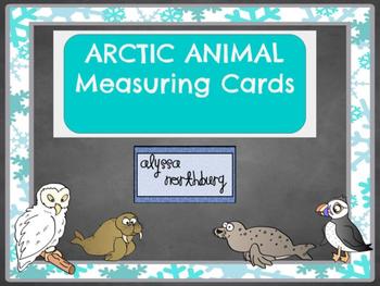 Arctic Animal Measuring Cards