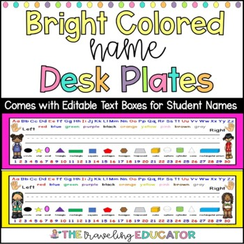 Bright Colored Name Plates