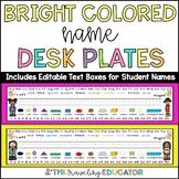 Bright Colored Desk Name Plates